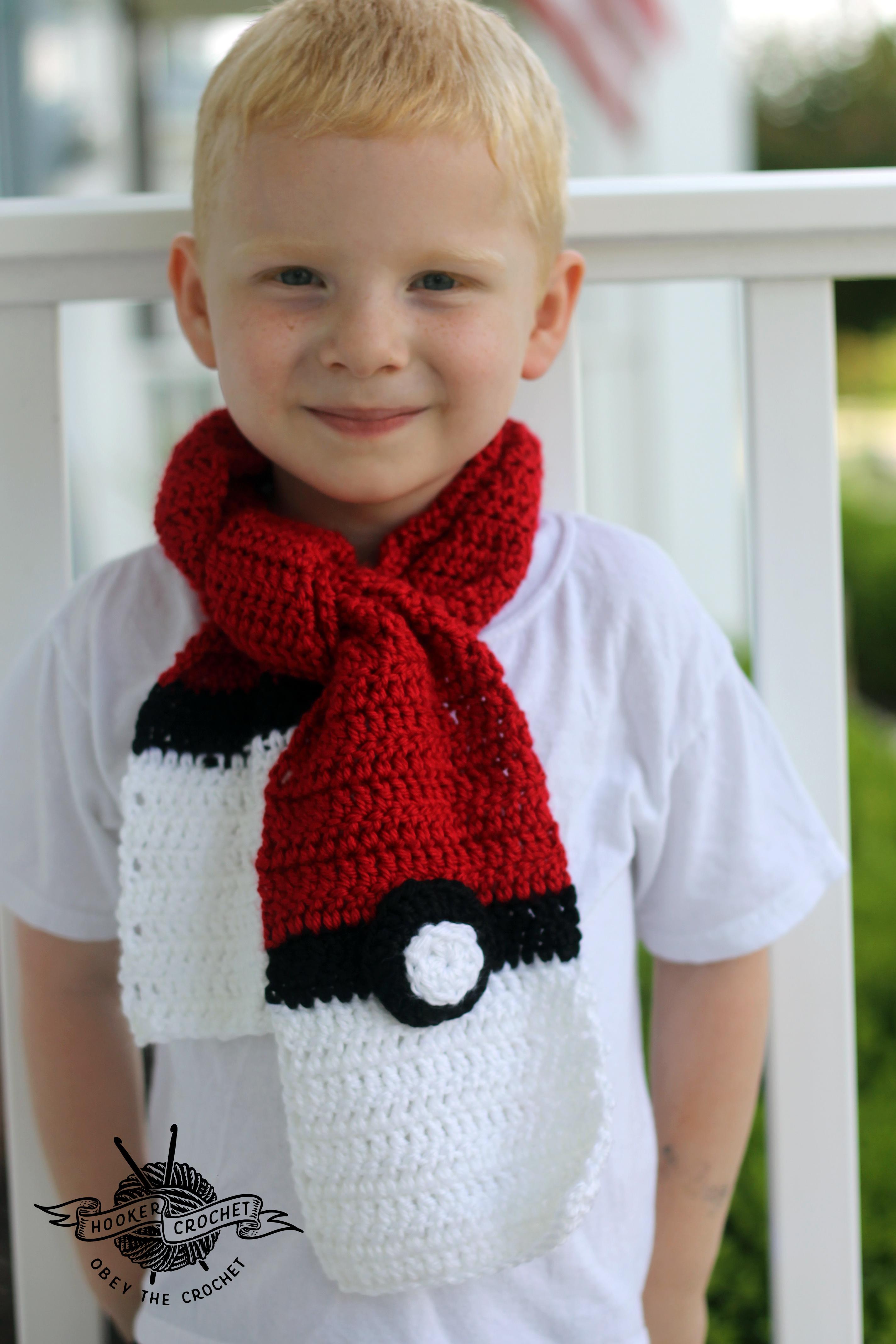 Pokemon Scarf Free Crochet Pattern Hooker Crochet